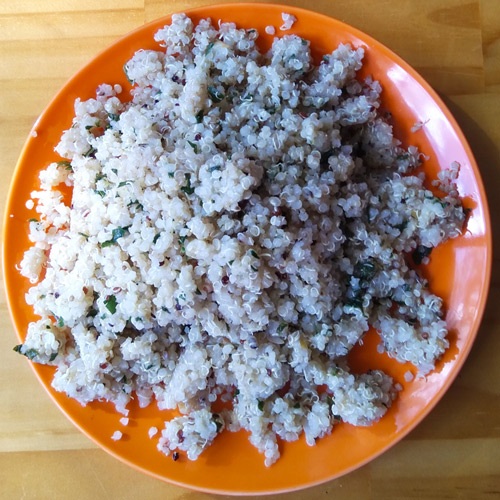 learn how to cook Quinoa with lemon and parsley at Jacican cooking
