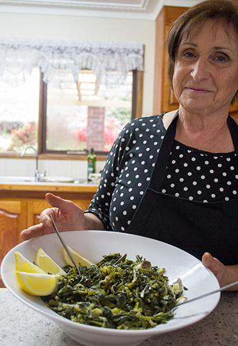 Mary Smeriglio shares her recipe for Dandelion Greens with Jaci from Jacican